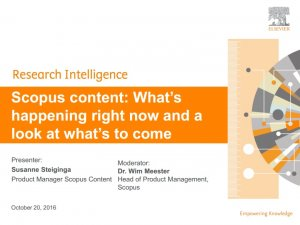 Scopus webinar: What's happening right now and a look at what's to come